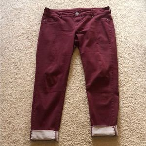 Maurices Jeggings - Burgundy